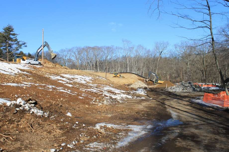 Looking northeast from near the bridge over Poplar Plains Brook toward where the new Y will be situated. In this view, the new Y's tower will be in the foreground.