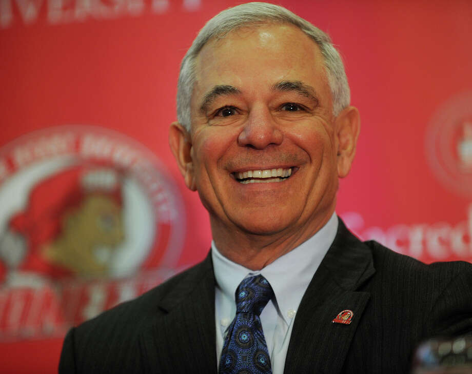 Bobby Valentine smiles as he is introduced as the new executive director of intercollegiate athletics at Sacred Heart University in Fairfield, Conn. on Tuesday, February 26, 2013. Photo: Brian A. Pounds / Connecticut Post