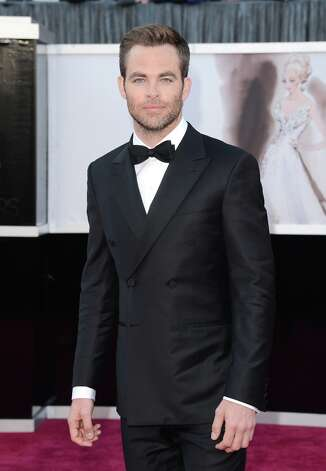 Actor Chris Pine arrives at the Oscars at Hollywood & Highland Center on February 24, 2013 in Hollywood, California. Photo: Jason Merritt, Getty Images / 2013 Getty Images