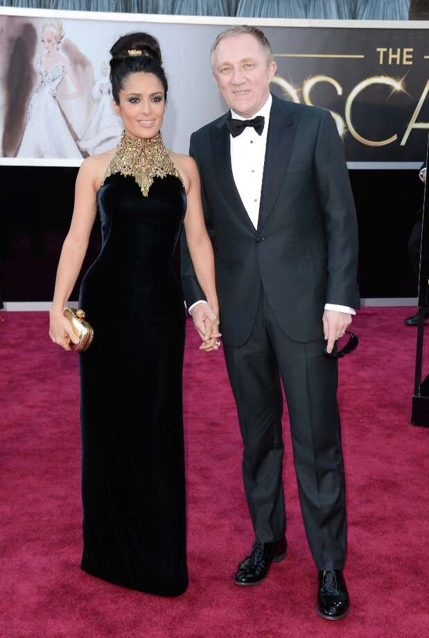 Actress Salma Hayek and husband Francois-Henri Pinault arrive at the Oscars at Hollywood & Highland Center on February 24, 2013 in Hollywood, California. Photo: Jason Merritt, Getty Images / 2013 Getty Images