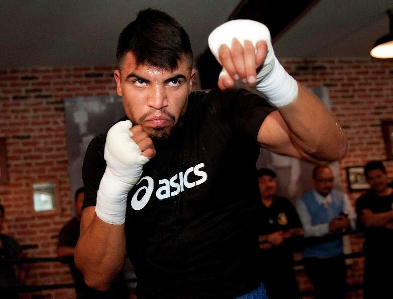 Boxer Victor Ortiz will compete on the next edition of Dancing with the Stars. (AP Photo/Grant Hinds