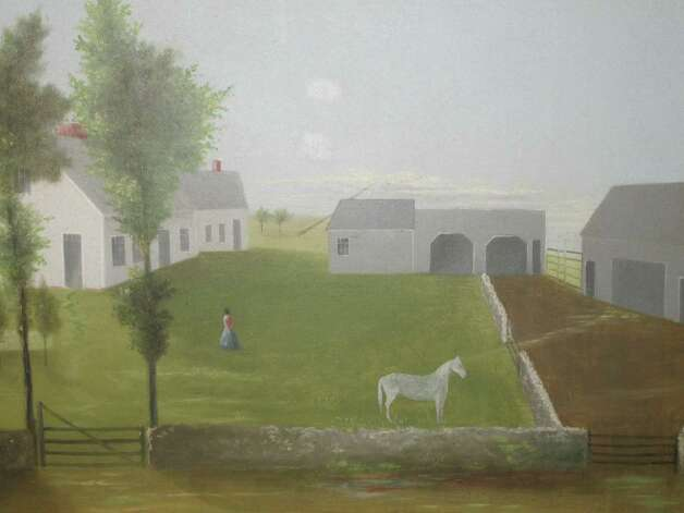 This unsigned mid-19th century, oil-on-canvas folk farm yard painting, from Find Weatherly, of Westport, Conn., will be among the items on display at the 46th annual Darien Antiques Show in Darien, Conn. The show kicks off with a preview party, Friday, March 1, 2013, and continues through Saturday and Sunday, March 2 to 3. About 35 dealers are expected to have items on display for purchase. For more information, call 203-655-0491 or visit http://www.darienantiqueshow.org. Photo: Contributed Photo