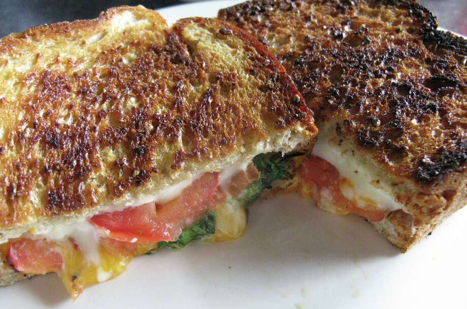 Green Vegetarian's grilled cheese. Photo: JENNIFER MCINNIS, SAN ANTONIO EXPRESS-NEWS / JMCINNIS@EXPRESS-NEWS.NET