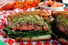 Green Vegetarian Cuisine has the Classic Veggie Sandwich.