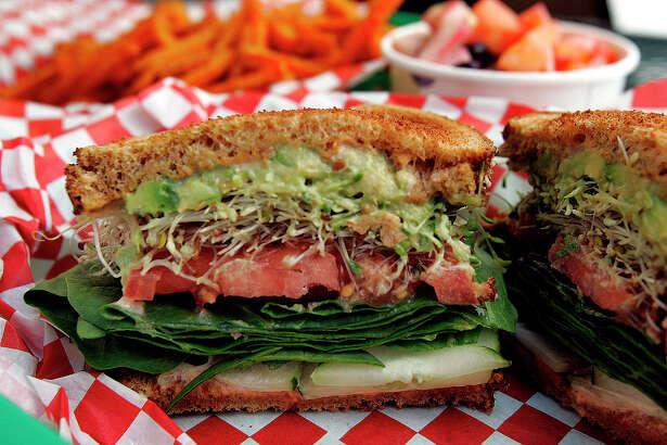 Green Vegetarian Cuisine has the Classic Veggie Sandwich.
