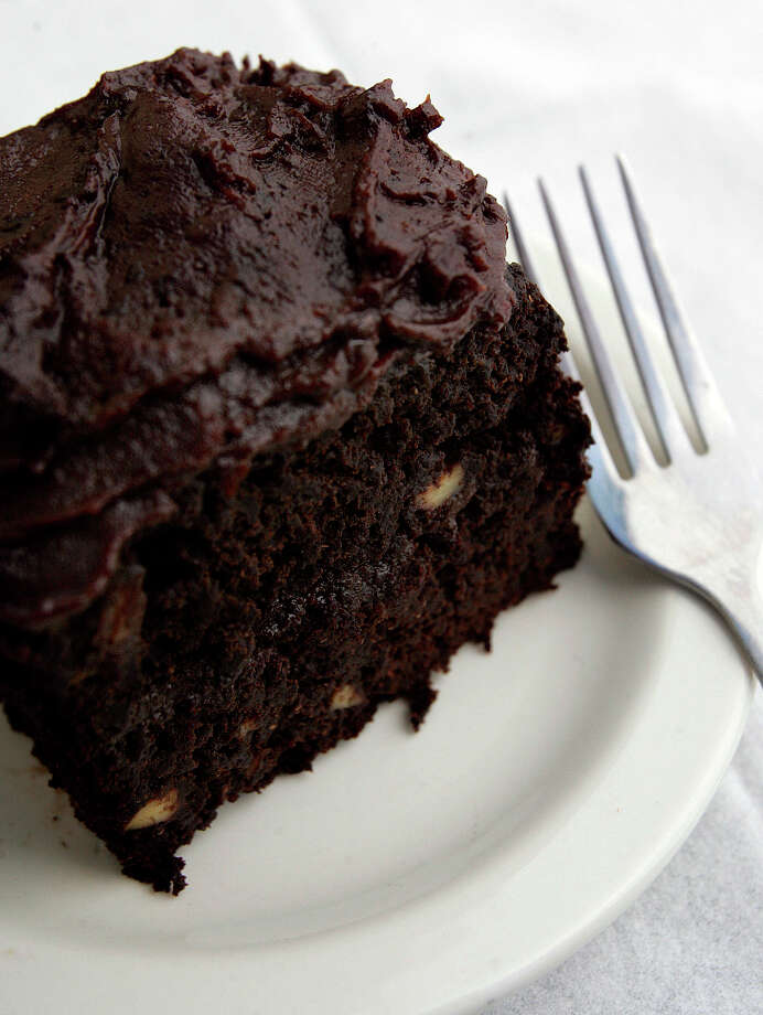 Green Vegetarian Cuisine has a Vegan Chocolate Cake. Photo: KEVIN GEIL, SAN ANTONIO EXPRESS-NEWS / SAN ANTONIO EXPRESS-NEWS