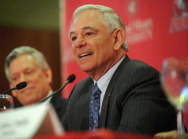 Bobby Valentine fields questions following his  introduction as the new executive director of intercollegiate athletics at Sacred Heart University in Fairfield on Tuesday, February 26, 2013. Photo: Brian A. Pounds / Connecticut Post