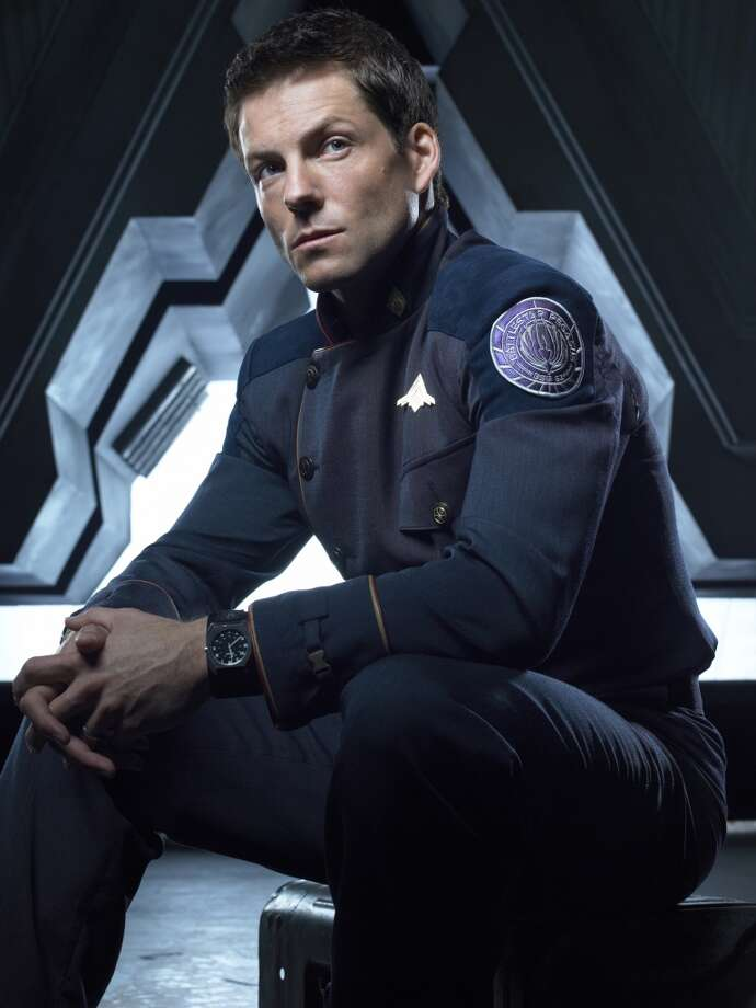 Jamie Bamber as Capt. Apollo in 2006, from Season 3 of ''Battlestar Galactica.''
