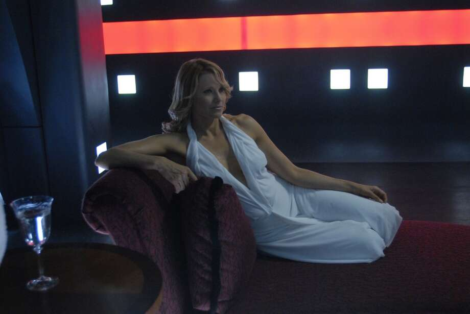 The obsessive Cylon Number Three, played by Lucy Lawless, in 2006.