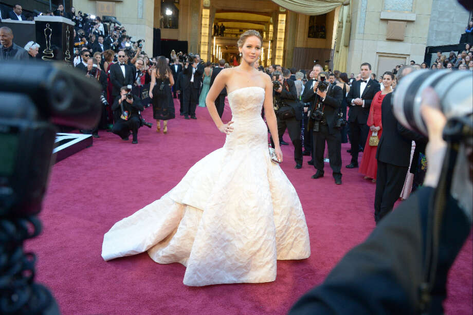 Jennifer Lawrence in Dior Photo: JOE KLAMAR, AFP/Getty Images / AFP