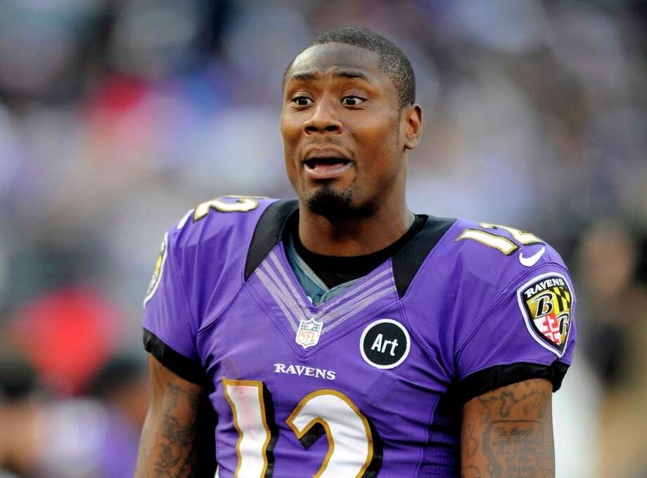 Baltimore Ravens wide receiver Jacoby Jones will compete on the next edition of Dancing with the Stars. (AP Photo/Nick Wass, file) Photo: Nick Wass, Associated Press / FR67404 AP