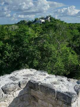 Calakmul's Structure II is absurdly large, covering 5 acres and rising 175 feet from the jungle floor.