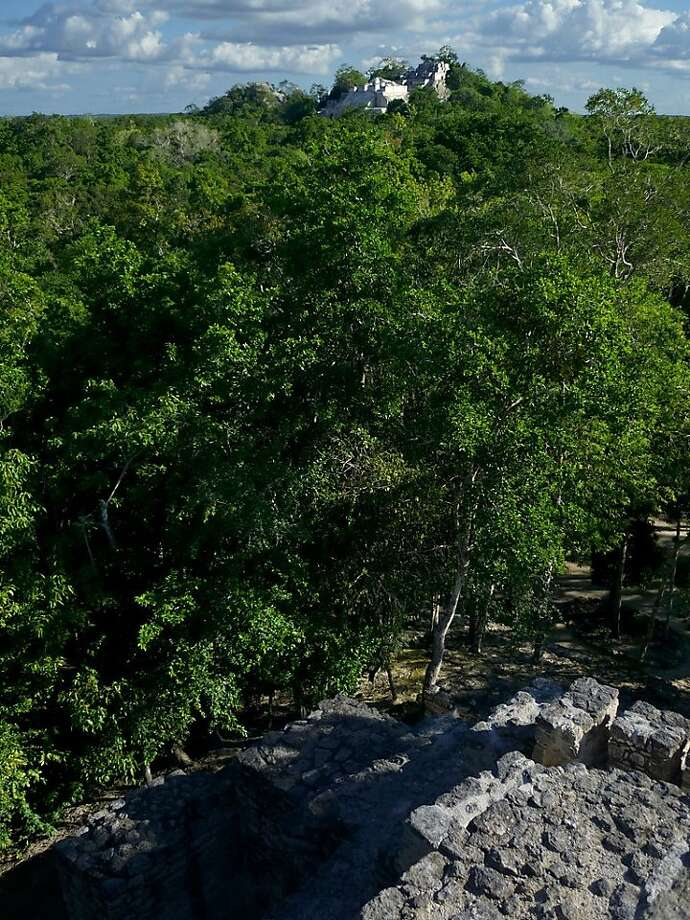 Answer 1. Calakmul's Structure II, at roughly 180 feet, is more than twice as tall as El Castillo, and its No. 2 pyramid (at least in height — it's actually named Structure I)  is nearly 148 feet high. Photo: Christine Delsol, Special To SFGate