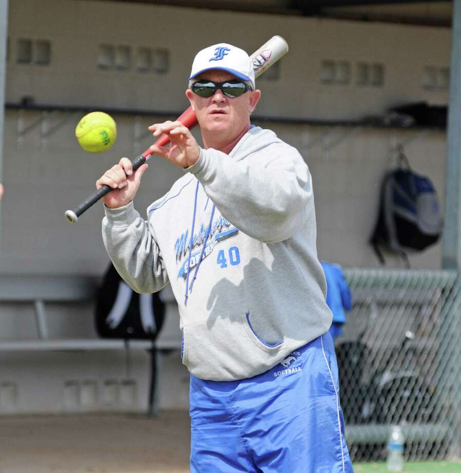 Friendswood softball coach Kevin Parr during the Pearland ISD Tournament on 2-23-13 in a game played at Dawson High School. Photo: L. Scott Hainline / freelance