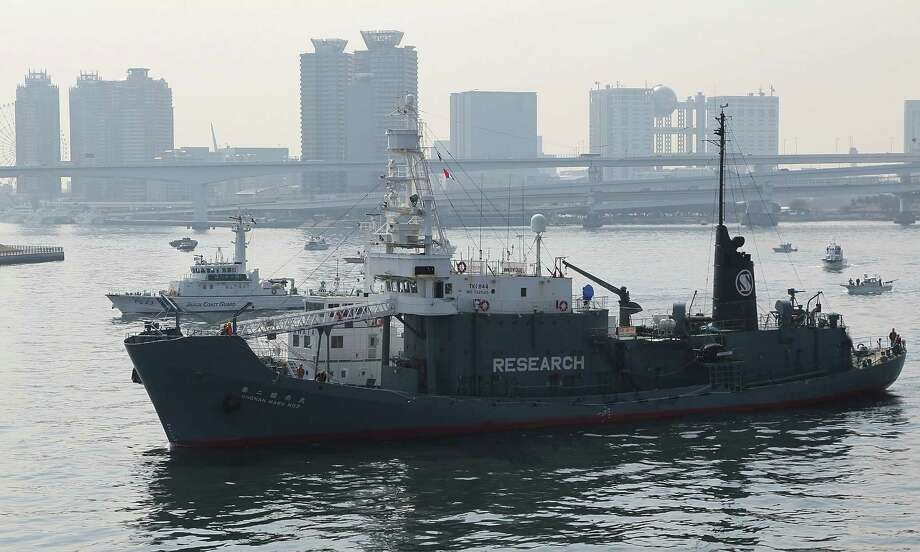 Japan's whaling vessel Shonan Maru 2, detaining a New Zealand anti-whaling activist Peter Bethune, a member of the Sea Shepherd Conservation Society and was the captain of the high-tech powerboat Ady Gil appear, at Tokyo bay on March 12, 2010 in Tokyo, Japan. Bethune climbed aboard a Japanese ship in the Antarctic Ocean on February 15 and has been been detained on the Shonan Maru 2.  Bethune is arrested upon the ship's arrival in Tokyo. Photo: Koichi Kamoshida, Getty Images / 2010 Getty Images