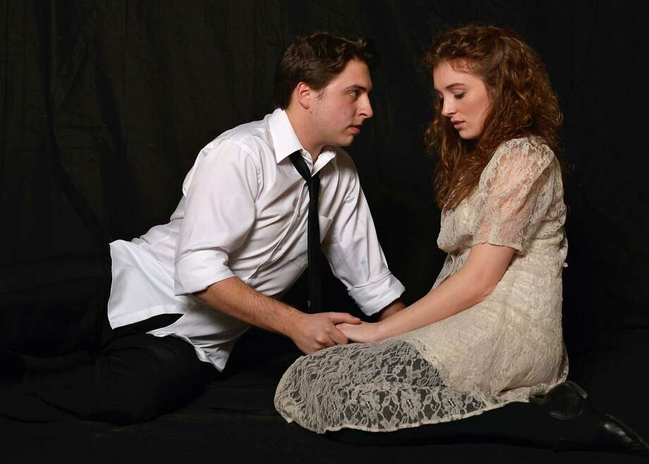 âÄúSpring AwakeningâÄù features Vincent McCoy, of Torrington, and Anna Giordano, of Clinton. The rock musical opened this week at Western Connecticut State University in Danbury, and will be onstage through March 16. Photo: Contributed Photo