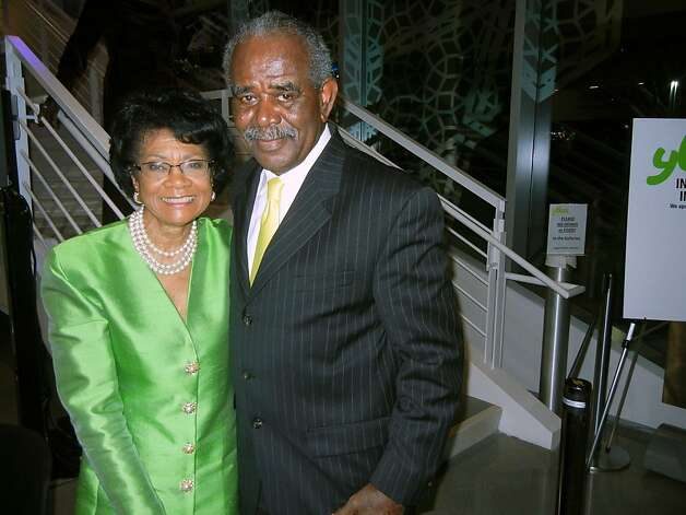 Belva Davis and her husband, William Moore, celebrated their 50th wedding anniversary Feb. 23 at Bay Area Black Journalist Association's tribute to Davis career. Feb 2013. By Catherine Bigelow. Photo: Catherine Bigelow, Special To The Chronicle