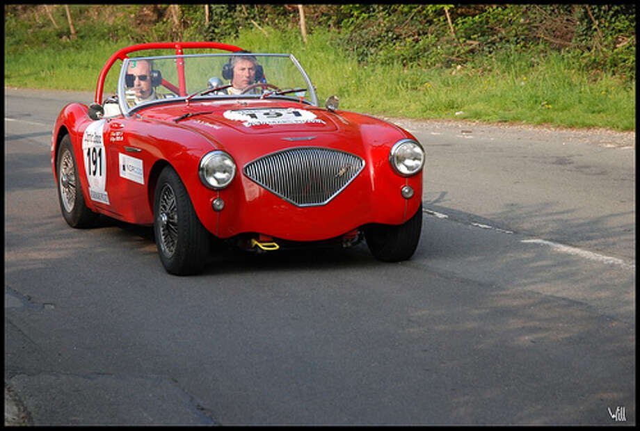 45. Austin-Healey 100 (1956–1959) What Popular Mechanics said: The 100 is a perfect example of how British manufacturers were reinvigorated after World War II finally ended. This Austin-Healey got its name because it could hit 100 mph. (Photo: Willy_G91, Flickr)Source: Popular Mechanics Photo: Flickr