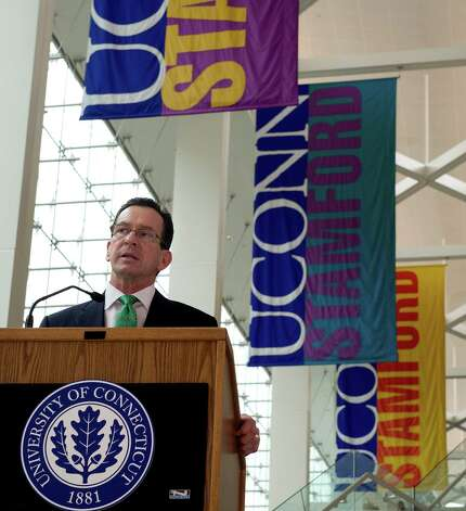 Connecticut Gov. Dannel P. Malloy speaks during the 9th annaul Black History Month celebration at the University of Connecticut's Stamford campus on Tuesday, February 26, 2013. Photo: Lindsay Perry / Stamford Advocate