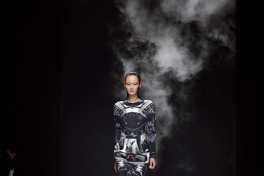 How do you say 'Fire!' in French?Ground Zero's Fall/Winter 2013-2014 ready-to-wear collection for Paris Fashion Week is smoking hot. Photo: Martin Bureau, AFP/Getty Images