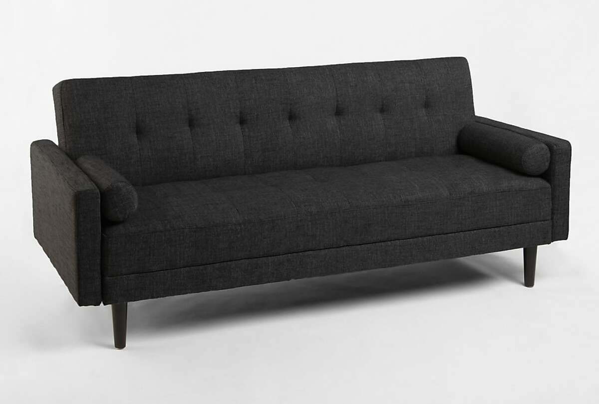Less: $649 Night and Day Convertible Sofa in Timberwolf at Urban Outfitters