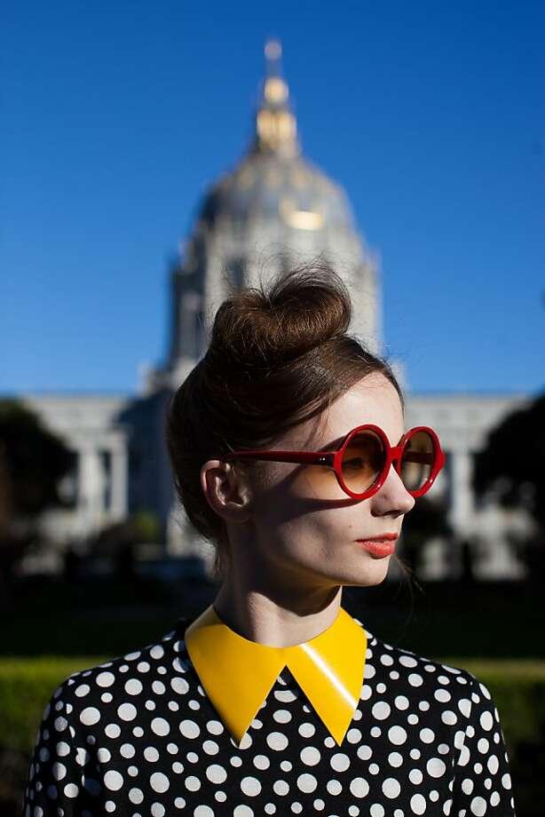 Maria Kochetkova: Principal dancer with San Francisco Ballet Harputs Market made this custom detachable  collar for Maria. Photo: Anna-Alexia Basile