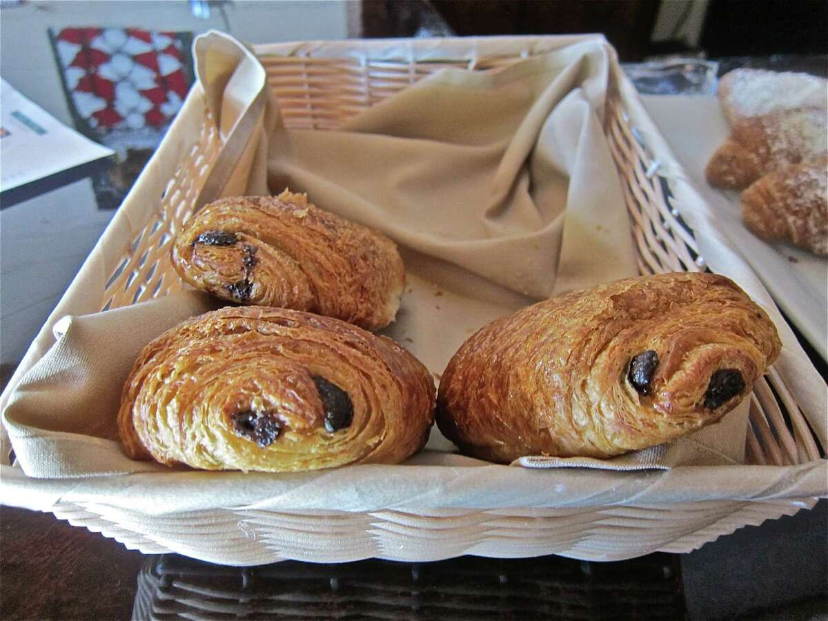 Chocolate croissants, a breakfast feature on Saturday and Sunday at Sal -Sucr French Bistro.