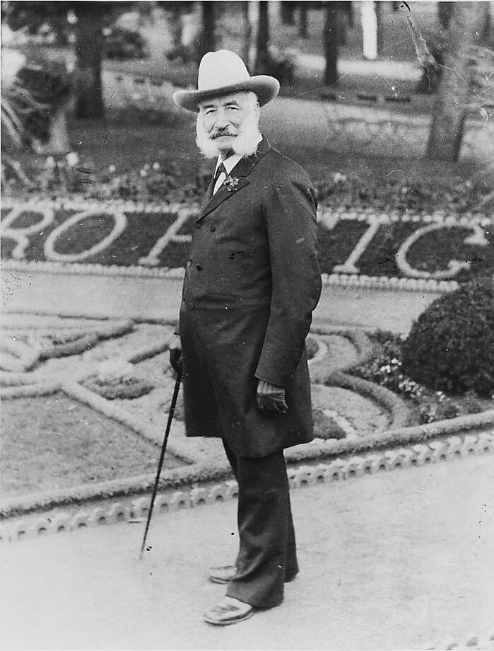 Mayor Adolph Sutro on his San Francisco estate. He started planting hundreds of trees in the 1880s. Photo: Courtesy