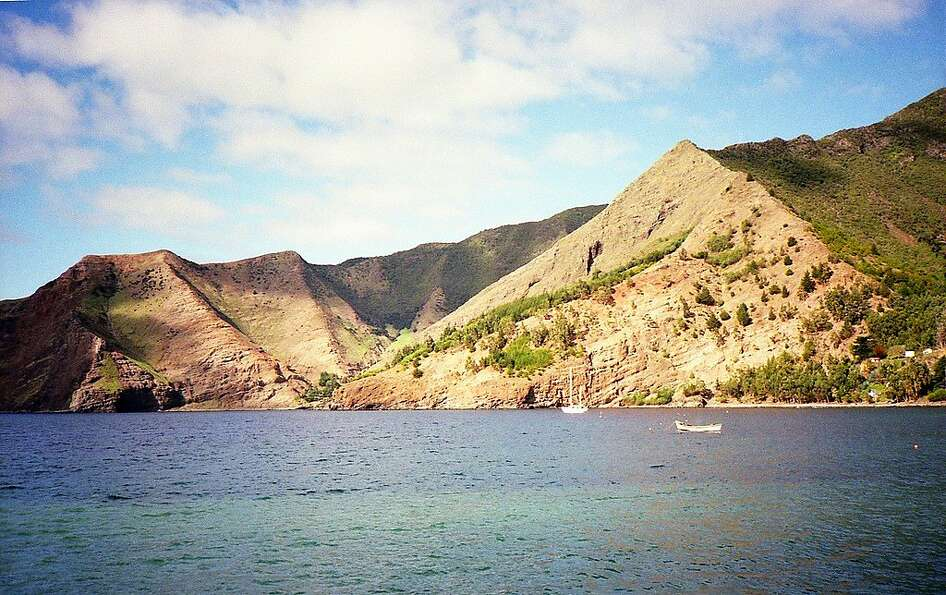 The rugged coast of Robinson Crusoe Island, a two-hour flight from Santiago, Chile, is largely un