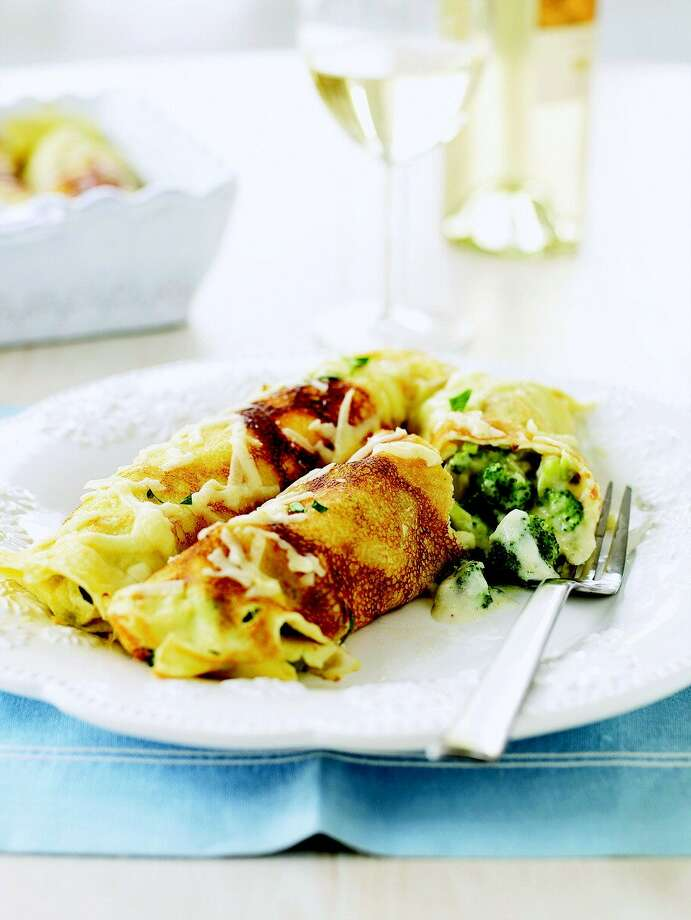 Good Housekeeping recipe for Broccoli and Cheddar Cr pes. Photo: Courtesy Of Good Housekeeping
