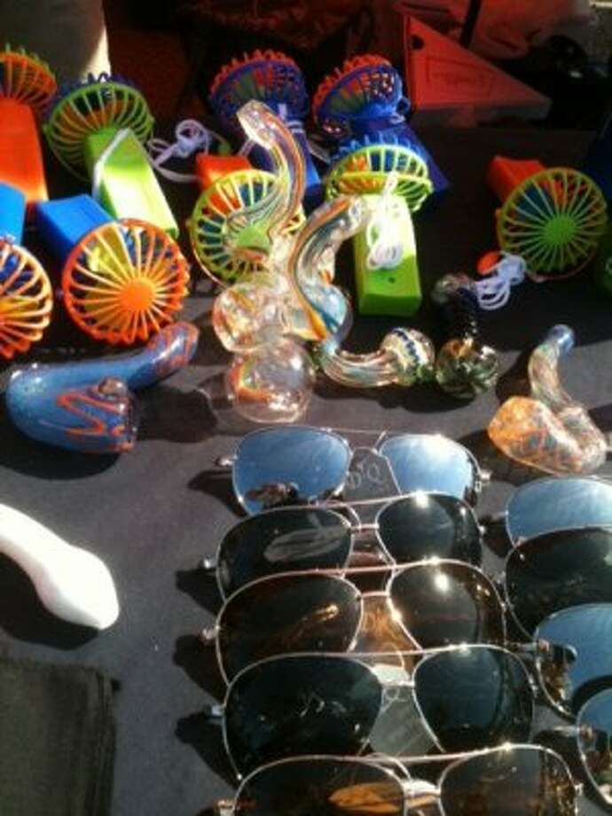 You can get sunglasses, a tobacco pipe and a water mister. (Photo by Frankie Ortega) Photo: Houston Chronicle