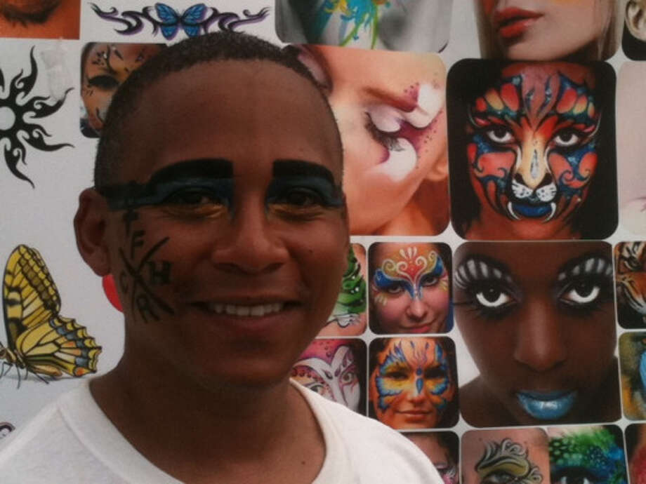 You can get your face painted by Kerry Bertling. (Photo by Frankie Ortega) Photo: Houston Chronicle