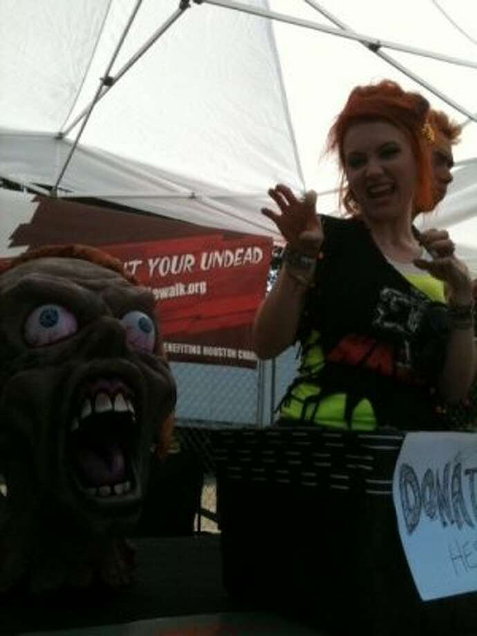 You can get scared at the Zombie Walk Houston tent. (Photo by Frankie Ortega) Photo: Houston Chronicle