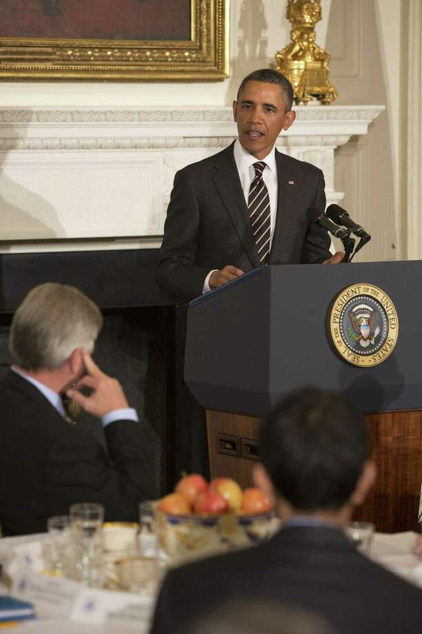President Barack Obama, shown at a meeting of  the National Governors Association in Washington, is  criticized by a reader for his idea of a sequester. Photo: Stephen Crowley, New York Times