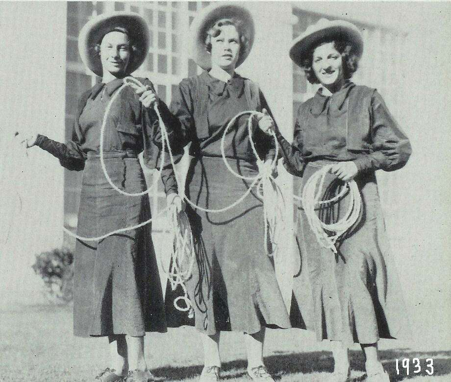 Earliest Lasso photo (girls unknown), 1933 Photo: Lasso Alumni Association