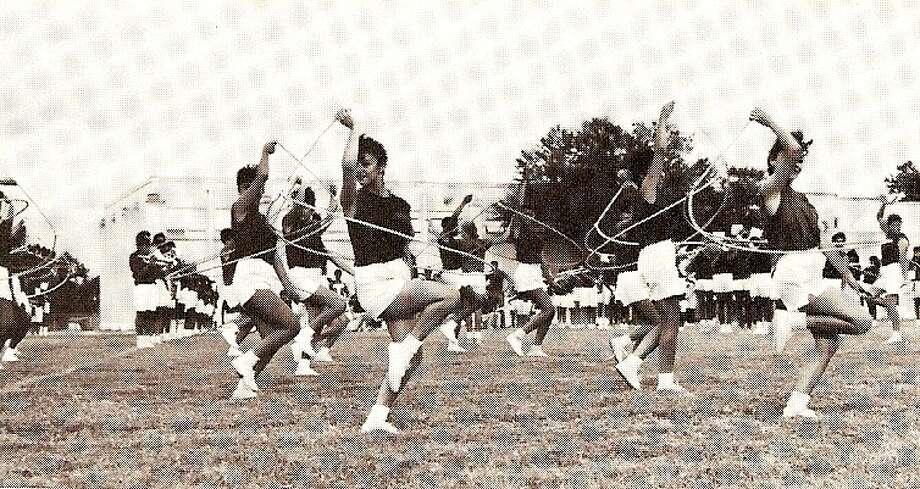 Lassos rope during Jefferson High's annual ice cream social, 1988. Photo: Lasso Alumni Association