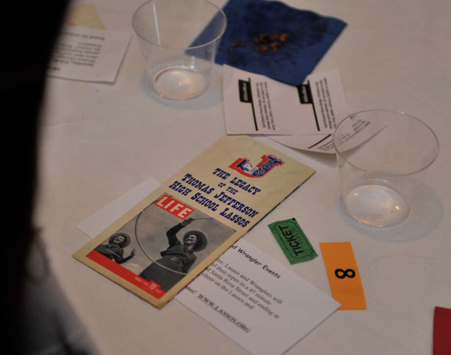 The tables at the Lasso's mixer featured a brochure with the March 7, 1938 Life magazine cover that the Lasso's appeared on. Photo: Robin Jerstad