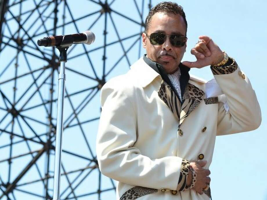 Please note: If your name is not Morris Day or The Time you are not cool enough to wear this suit outside, in the summer.(Photo by Jay Dryden) Photo: Houston Chronicle
