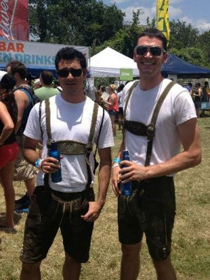 Lederhosen. Because, of course.Photo by Korrie Cooper Brown. Photo: Houston Chronicle