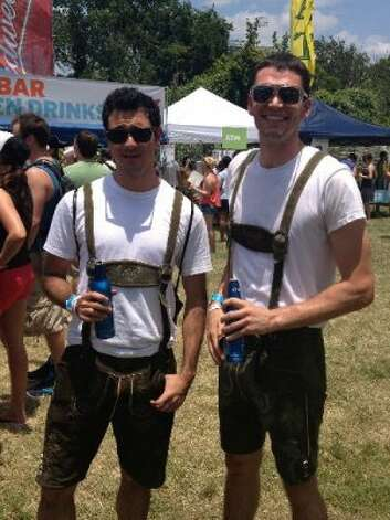 Lederhosen. Because, of course. Photo by Korrie Cooper Brown. Photo: Houston Chronicle