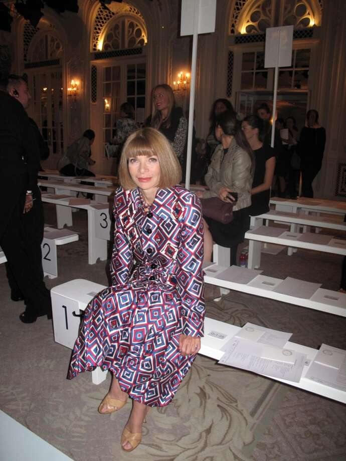 Anna Wintour in Prada Spring 2012 at Roksander Ilinic (Photo Getty Images)