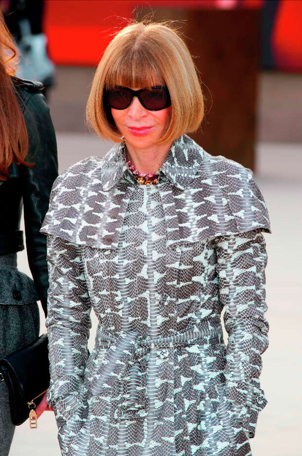 Anna Wintour in Burberry Prorsum trench at Burberry Prorsum Photo: Jonathan Short, Jonathan Short/Invision/AP / Invision