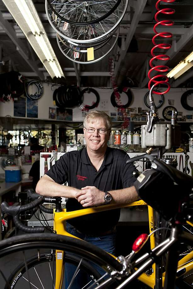 Steve Howard's family has owned and operated Livermore Cyclery since 1976. The shop on First Street rents mountain and road bikes and can help visitors plan their routes to visit wineries. Photo: Jason Henry, Special To The Chronicle