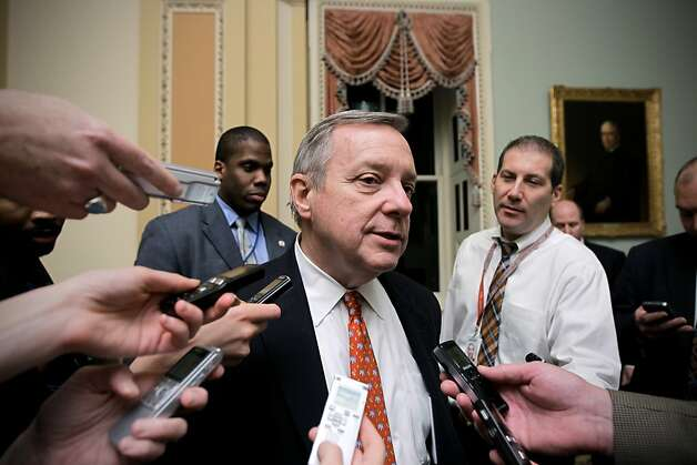 A bill from Sen. Dick Durbin would allow states to make Web retailers collect sales taxes. Photo: J. Scott Applewhite, Associated Press