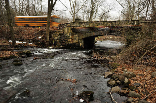 The city of Stamford has announced plans to replace the bridge on Cedar Heights Road, which spans the Rippowam River. Photographed on Tuesday, Feb. 26, 2013. Photo: Jason Rearick / The Advocate
