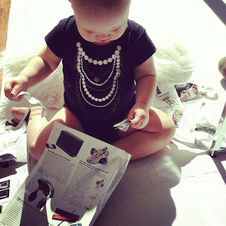 Baby E loves to shop catalogs