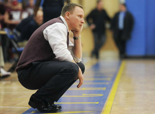 Bethel head coach Ray Turek watches from the sidelines during Bethel's 75-67 win over Notre Dame Fairfield in the semifinal game of the South-West Conference Boys High School Basketball Tournament at Newtown High School in Newtown, Conn. on Tuesday, Feb. 26, 2013. Photo: Tyler Sizemore / The News-Times