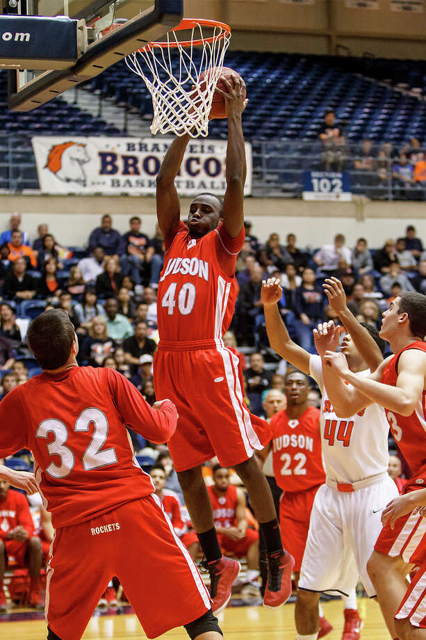 Judson's Derrik Luster pulls down a rebound during the first half of their Class 5A boys basketball third round game at the UTSA Convocation Center on Tuesday, Feb. 26, 2013.  Brandeis won the game 60-53. Photo: Marvin Pfeiffer, San Antonio Express-News / Express-News 2013
