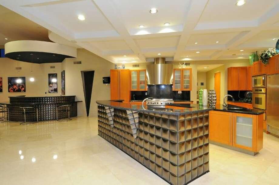 Almost futuristic looking kitchen