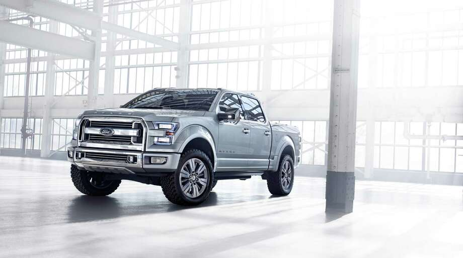 Ford unveiled its Atlas concept car earlier this year. The truck comes with a new ecoboost engine to improve gas mileage and more capability. The car also has 110-volt electrical outlets to charge whatever you'd like. Photo: Ford